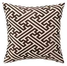 D.L. Rhein — Cross Hatch Pillow - Chocolate