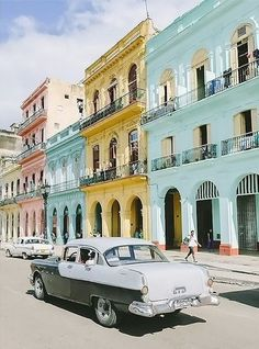 The pastel colored streets of Havana, Cuba are definitely on our travel bucket list!