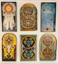 vintage pinball games