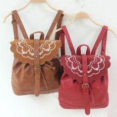 Cute Red Flower Retro Backpack bag..I wish i cud hav one