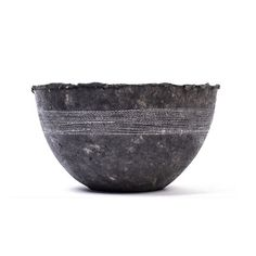 White Stitched Charcoal Pulp Bowl - Swaziland