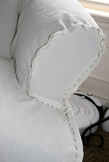 slipcover tutorial, a beach house must!