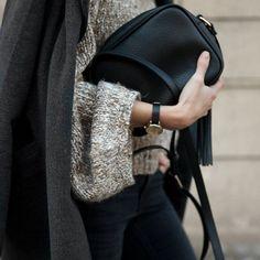 #sweater #jumper #leathervax #watch #minimal #black #womenfashion #womenwear #streetstyle #vineetkaur #tumblr #blog #simplicity #elegance