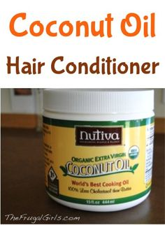 Coconut Oil Hair Conditioner Treatment! ~ from TheFrugalGirls.com #coconutoil #thefrugalgirls