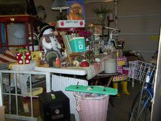 One of my sales- it was a preview night- in my garage!