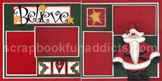 Believe layout for four (4) photos.  I am going to substitute the nativity for Santa.