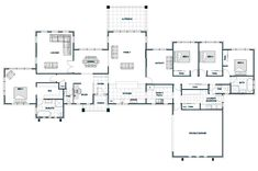 There's a few walls I'd get rid off but overall good Modern House Floor Plans, Home Design Floor Plans, Luxury House Plans, Best House Plans, Dream House Plans, 4 Bedroom House Plans, House Yard, Shed Homes, Farmhouse Plans