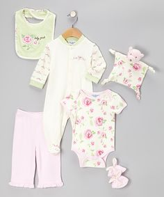 Take a look at this Kyle & Deena Pink Baby Girl 7-Piece Layette Set on zulily today!