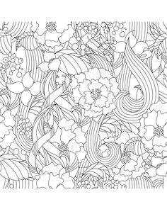 Flowers Coloring Book Beautiful Garden For Adult Stress Relief RelaxationEnchanted Forest BookFantastic