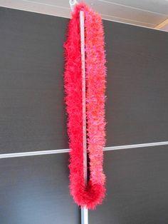 Snood volga shiny rouge-rose : Echarpe, foulard, cravate par doigtsdefees88