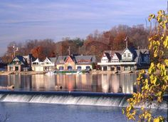 boathouse row philadelphia | Boathouse Row, with fall color