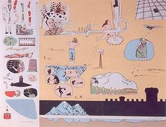 "OYVIND FAHLSTROMEddie (Sylvie's Brother) in the Desert, 1966 Silkscreen, ed. 225 17 "" x 21"""