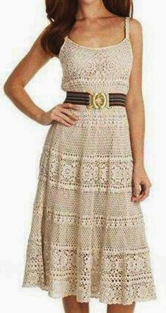 Crochet Beautiful Dress... link for the pattern charts: http://2yanakara.blogspot.ro/2014/06/blog-post_4219.html ... Сарафан
