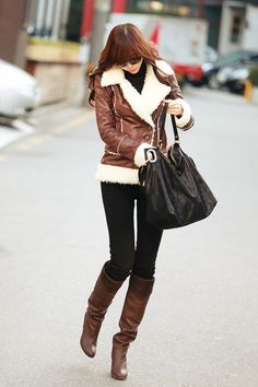I wanted a leather jacket so bad his winter.. Maybe next winter... hopefully <3