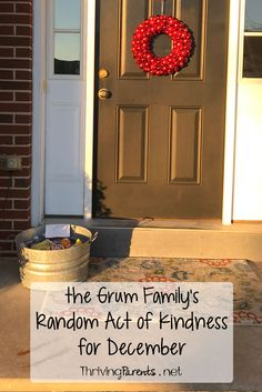 Our family has completed December's Random Acts of Kindness! What can you do for someone this month?