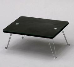 Rakuten Sand Mini Table Black Glass Center Low Living Cocktail Folding