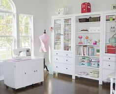 How to Set Up Your Sewing Room - Ideas & Essentials Sewing Room Envy? You don't have to spend a fortune on kitting out your dream sewing room. Because you CAN create a fresh sewing space with . Ikea Sewing Rooms, Sewing Room Storage, Sewing Room Organization, Ikea Storage, My Sewing Room, Craft Room Storage, Sewing Spaces, Studio Organization, Sewing Room Design