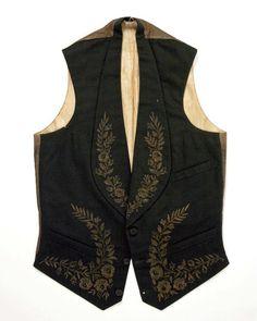 Wedding vest ca. 1879 via The Costume Institute of The Metropolitan Museum of Art.