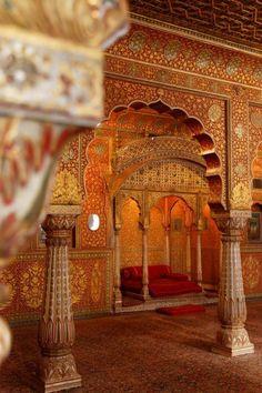 Indien Rundreise Palast architektur Innen