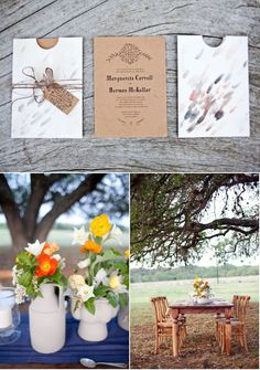 From Liz of The Nouveau Romantics…Most of my inspiration comes from consideration of the venue, time of year, and ambiance – and in this case, the classic Wild Onion Ranch, its fields of long horn cattle, and the vernal equinox all played a part in shaping my idea of a folk-inspired celebration of spring. I envisioned a layered palette of brilliant Icelandic poppies, vine greens, all grounded with textured wood and deep blues.