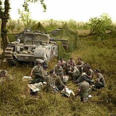 Tank Division taking a Break | WWII Soldiers