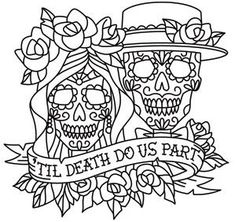Day of the Dead dia de los muertos Sugar Skull coloring page printable adults Kleuren voor volwassenen Färbung für Erwachsene coloriage pour adultes colorare per adulti para colorear para adultos раскраски для взрослых omalovánky pro dospělé colorir para Skull Coloring Pages, Free Adult Coloring Pages, Coloring Pages To Print, Printable Coloring Pages, Colouring Pages, Coloring Books, Paper Embroidery, Embroidery Designs, Embroidery Stitches