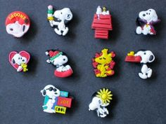 Set of 10 Snoopy Shoe Style Your Crocs Fun Clips Shoe Clogs Charms by Croc Charms. $7.49. This hard to find set comes with 9 charms. Collect them all, Mix 'n Match, trade your friends.
