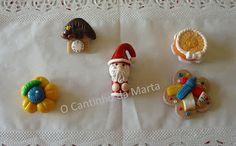Imans (Relógio de cuco, Bolo, Flor, Pai Natal e Professora)