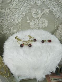 Necklace and errings with stones like di Bluesmini su Etsy