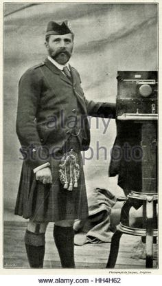 Colonel Prince Henry of Battenberg (1858 – 1896), morganatic descendant of the Grand Ducal House of Hesse, later becoming a member of the British Royal Family, through his marriage to Princess Beatrice.  Photograph taken in 1894 at the Balmoral Bazaar. - Stock Image