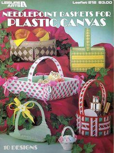 Vintage Plastic Canvas Baskets Pattern Book  by nanaloveshandmade