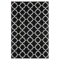 Safavieh DHU554G Dhurries Rug Black / Ivory - DHU554L-6