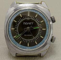 Vintage Soviet  russian watch POLJOT ALARM  #Polyot