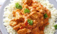 Sunn kylling tandoori med blomkålris | EXTRA A Food, Food And Drink, Finger Foods, Curry, Vegan, Chicken, Ethnic Recipes, Saturday Night, Finger Food