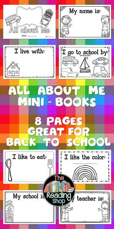 This mini - book has additional pages so you can customize it for your class! All About Me Preschool Theme, All About Me Crafts, All About Me Activities, Preschool Themes, Preschool Lessons, Preschool Classroom, Preschool Learning, Kindergarten Activities, Teaching