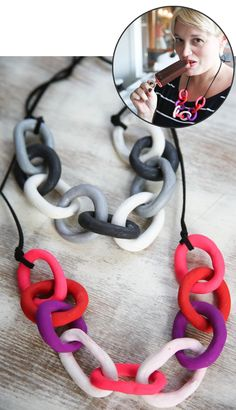DIY clay necklace from henry happened