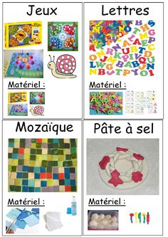 Fiches ateliers à poser Play School Activities, Kindergarten, Activity Bags, Teacher Hacks, Literacy Centers, Kids And Parenting, Preschool, Kids Rugs, Education
