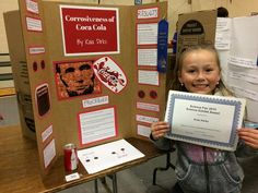 Kaia's Corrosiveness of Soda Grade Science Fair Project 1st Grade Science Fair, Science Fair Projects, Grade 1, Amelia, Soda, About Me Blog, Awesome, Drink, Soft Drink