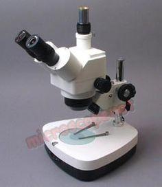 Trinocular Zoom Stereo Microscope 10x~80x $359.99    www.microscopenet.com    #microscope #science #microscopy