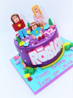 Roblox Birthday Cake, Bunny Birthday Cake, Roblox Cake, Birthday Cake With Photo, Birthday Treats, Birthday Fun, Piggy Cake, Shopkins Bday, Birthday Ideas For Her
