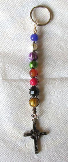 The Lord's Prayer with Prayer beads Key chain by johnchapman3, $12.50