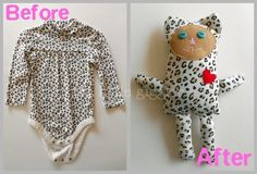 stuffee made from kids old clothes. too cute!