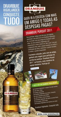 Email marketing para a Drambui, licor de Whisky mais famoso do mundo. Concurso Drambui Highlander no Facebook. (2011)