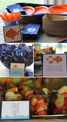 Goldfish themed birthday party... Ben might need this party theme since he loves fish so much!