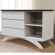 Eden Baby Madison Collection Combination Storage Unit White Espresso The Combo Offers Two Shelves On Left And A Shelf Right