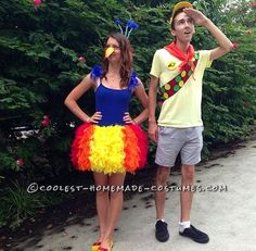 Cute Couple Costume: Kevin and Russell from Disney Pixar