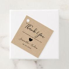 black brown rustic kraft thank you wedding favor tags - tap/click to get yours right now! #favortags #modern #thank #you #wedding #typography Creative Wedding Favors, Inexpensive Wedding Favors, Elegant Wedding Favors, Edible Wedding Favors, Beach Wedding Favors, Wedding Favors For Guests, Wedding Favor Tags, Wedding Thank You, Summer Wedding