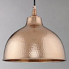 Buy John Lewis Bolu Pendant Shade, Copper Online at johnlewis.com