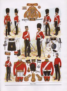 Royal North British Dragoons (Scots Greys), 1854 by B.K. Fosten from The Thin Red Line: Uniforms of the British Army Between 1751 and 1914 by D.S.V. Fosten and B.K. Fosten.