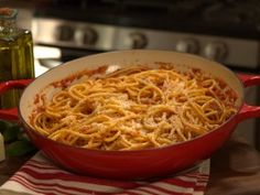 Bucatini all'Amatriciana : Recipes : Cooking Channel, Extra Virgin